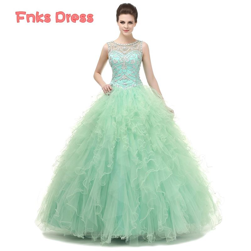 2016 Mint Green Quinceanera Dresses Ball Gown Quinceanera Dress ...