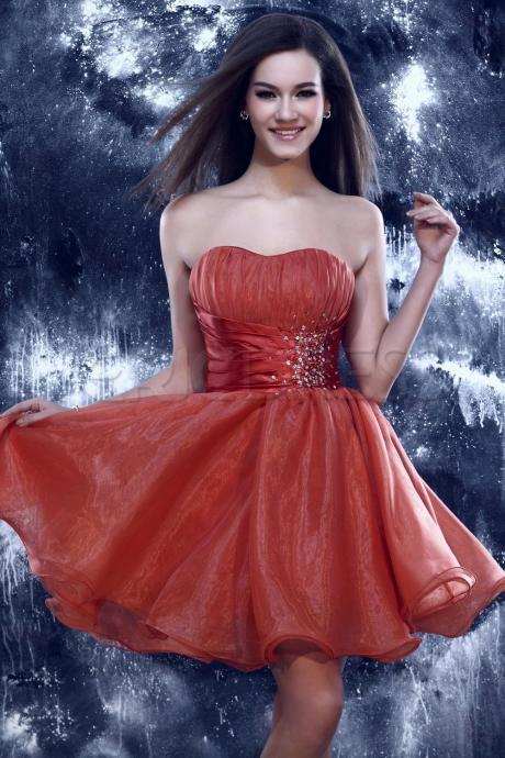 FNKS Coral Homecoming Dress,2016 Style Homecoming Gowns,Coral Pink Prom Gowns,A Line Sweet 16 Dress,Classy Homecoming Dresses,Tulle Cocktail Dress,Evening Gowns